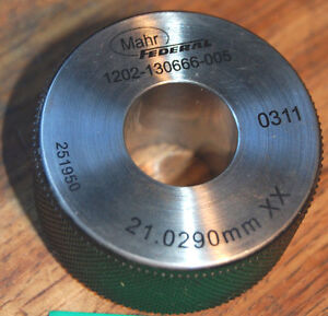 Mahr Federal 21 0290mm Xx Master Bore Gage Setting Ring Calibration Hole