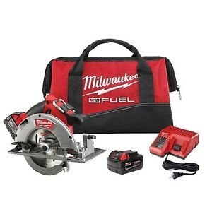 Milwaukee 2731 22 M18 Fuel 7 1 4 In Circular Saw Kit 2 Battery