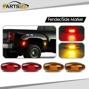 4x For Chevy Gmc 99 12 Led Front Rear Dually Bed Led Side Fender Marker Lights