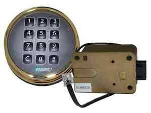 Amsec Esl10xl Brass Digital Safe Lock Replace S g 6120 Lagard Basic Ii Pro