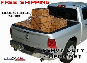 Truck Pickup Cargo Net Full Size Bed Suv Muv Honda Big Red Can Am Commander Mule