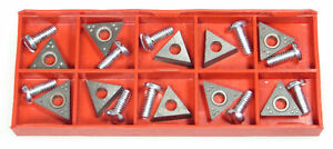 10 Accuturn 433796 Positive Rake Carbide Brake Lathe Bits Cutters