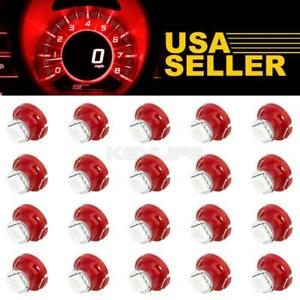 20pcs Red T5 T4 7 Neo Wedge Led Bulb Dash A C Climate Heater Controls Lights Led