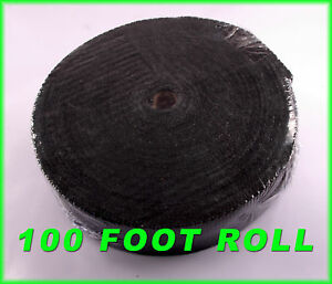 Header Tape Exhaust Pipe Heat Wrap Thick Black 1 16 x2 x 100 Ft For V6 V8 Engine