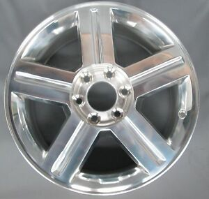 Chevrolet Trailblazer 18 Oem 5 Spoke Alloy Wheel Polished 1 07 09 Gm 9596189