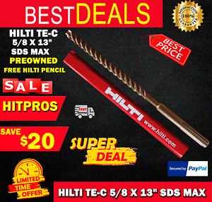 Hilti Te c 5 8 X 13 Sds Plus Preowned free Hilti Pencil l k Fast Shipping