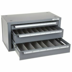 Huot 13075 Metric Sizes 1mm 13mm X 5mm Drill Dispenser Organizer Cabinet