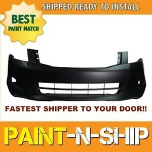 Fits 2008 2009 2010 Honda Accord Sedan 6cyl Front Bumper Painted Ho1000255