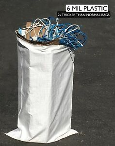 500 Reusable Contractor Bags 6 Mil 25 X 40 Garbage Dumpster Bag Trash