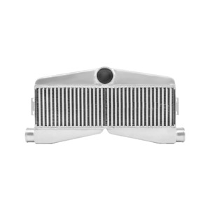 Cxracing Universal Intercooler Twin Turbo 2 Inlet 1 Outlet 27 5 X13 X3 5