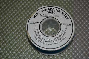 One New 1000 Roll Of Ok Machine Wire Wrapping Wire R30b1000 R30b 1000 Blue