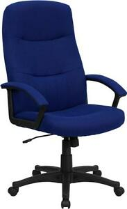 Flash Furniture High Back Navy Blue Fabric Executive Swivel Office Chair Bt 134a