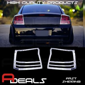 For Dodge Charger 2005 2008 Chrome Taillights Cover A d