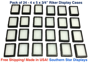 24 Pack Of Riker Display Cases 4 X 5 X 3 4 For Collectibles Arrowheads