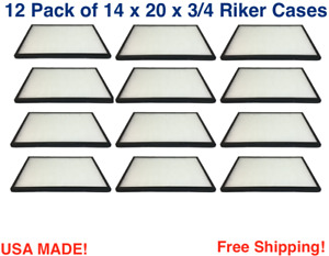12 Pack Of Riker Cases 14 X 20 X3 4 For Collectibles Arrowheads Jewelry