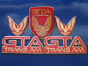 87 90 Pontiac Firebird Trans Am Gta 5pc Badge Set 6 Colors