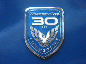 99 Pontiac Firebird 30th Anniversary Limited Edition Trans Am Side Door Badge