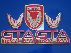 91 92 Pontiac Firebird Trans Am Gta 5pc Badge Set 9 Colors