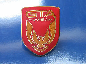 87 90 Pontiac Firebird Trans Am Gta Front Nose Badge 6 Colors