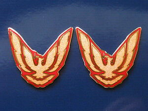 87 92 Pontiac Firebird Trans Am Gta Sail Panel Badge Pair 11 Colors