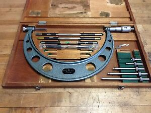 Nice Mitutoyo 6 12 Changeable Micrometer Set 001 Case