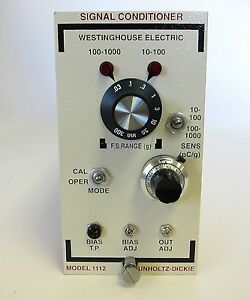 Westinghouse Electric Unholtz dickie Signal Conditioner 1112hx 1112