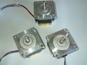 3 Nema 23 Stepper Motors cnc Mill Lathe Robot Reprap Taig Lathe Power Feed
