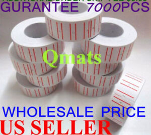X6 Rolls 7200 Red Sales Tag Label Refill Price Gun Garvey Contact 2212 Usa
