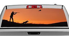 Truck Rear Window Decal Graphic hunting Last Light 20x65in Dc00301