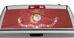 Truck Rear Window Decal Graphic military Marine Flag 20x65in Dc06604