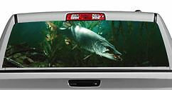 Truck Rear Window Decal Graphic fishing Lurking Musky 20x65in Dc78703