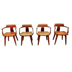 Mid Century Modern Set Of 4 Thonet Chairs Eames 1900 1950 2125