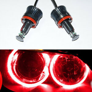 2x Red 20w 40w Angel Eye Cree Led Light Halo Ring Marker H8 For Bmw E70 E92 E93