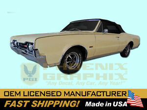 1967 Oldsmobile 442 Side Stencil Stripe W29 W70 Decals Stripes Kit