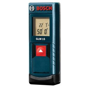 New Bosch Laser Distance Measurer Sae Metric Accurate To 1 8 At 50 Glm 15
