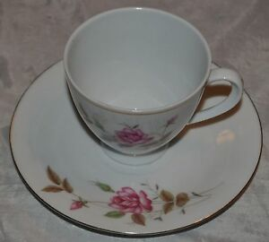 Vintage Tea Cup And Saucer Roses Made In China Rose