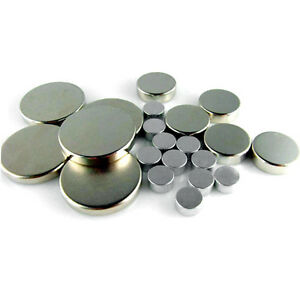 Lot Neodymium Disc Block Magnets D2 3 4 5 6 7 8 10 12 15 18 20 45 50 55 60 70mm