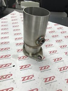 3 Stainless Pipe To 2 5 2 Bolt Flange Reducer W O2 Bung Downpipe Exhaust