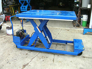 Scissors Lift Hydraulic Electric Portable Scissors Lift Table 2000 48x60