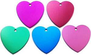 50 Xl Heart Identification Tags Anodized Aluminum Blank Bulk Id Wholesale Usa