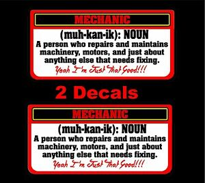 Mechanic Definition Decal Mac Toolbox Tool Cart Drill Wrench Drill Air Rachet