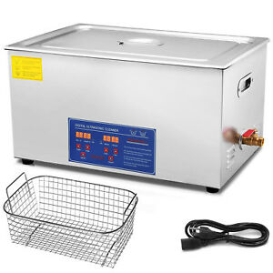 Stainless Steel 1080w 22l Liter Industry Heated Ultrasonic Cleaner Heater Timer