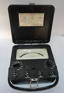 Vintage Weston D c Volt milliammeter Model 622