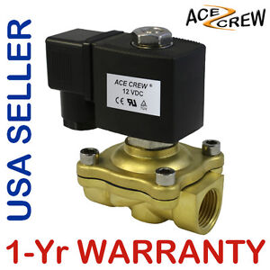 Viton 1 2 Inch 12v Dc Vdc Brass Solenoid Valve Npt Gas Water Air Normally Closed