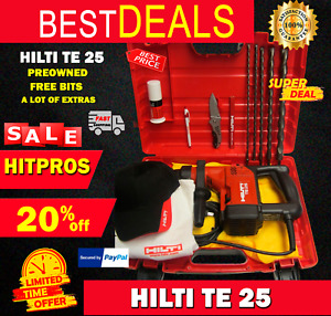 Hilti Te 25 Preowned Free Bits And A Lot Of Extras Fast Ship