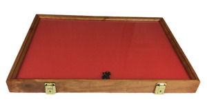 Cherry Wood Display Case 18 X 24 X 2 For Arrowheads Knifes Collectibles