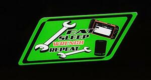 Eat Sleep Wrench Repeat Decal Green Snap On Tool Box Cart Krl Classic