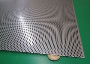 Perforated 304 Stainless Steel Sheet 024 Thick X 24 X 24 045 Hole Dia