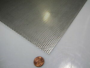 Perforated 304 Stainless Steel Sheet 060 Thick X 24 X 24 093 Hole Dia