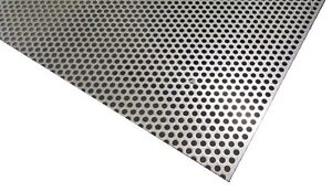 Perforated 304 Stainless Steel Sheet 012 Thick X 24 X 24 250 Hole Dia